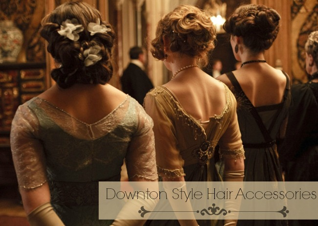 downton abbey style hair accessories and downton hairstyles via va voom vintage