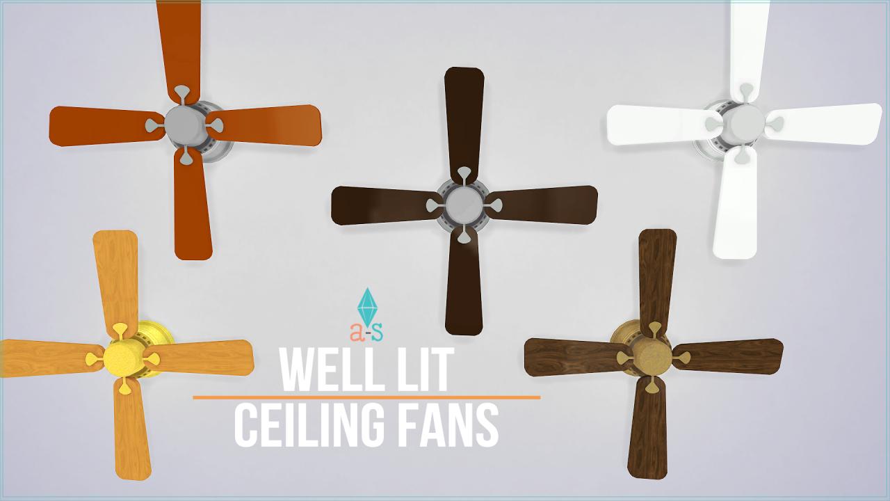 Contenido personalizado para sims 4 ventiladores de - Ventiladores de techo de madera ...
