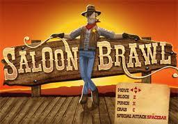 Juegos de acci n 3d saloon brawl 3d lorena games for Salon brawl