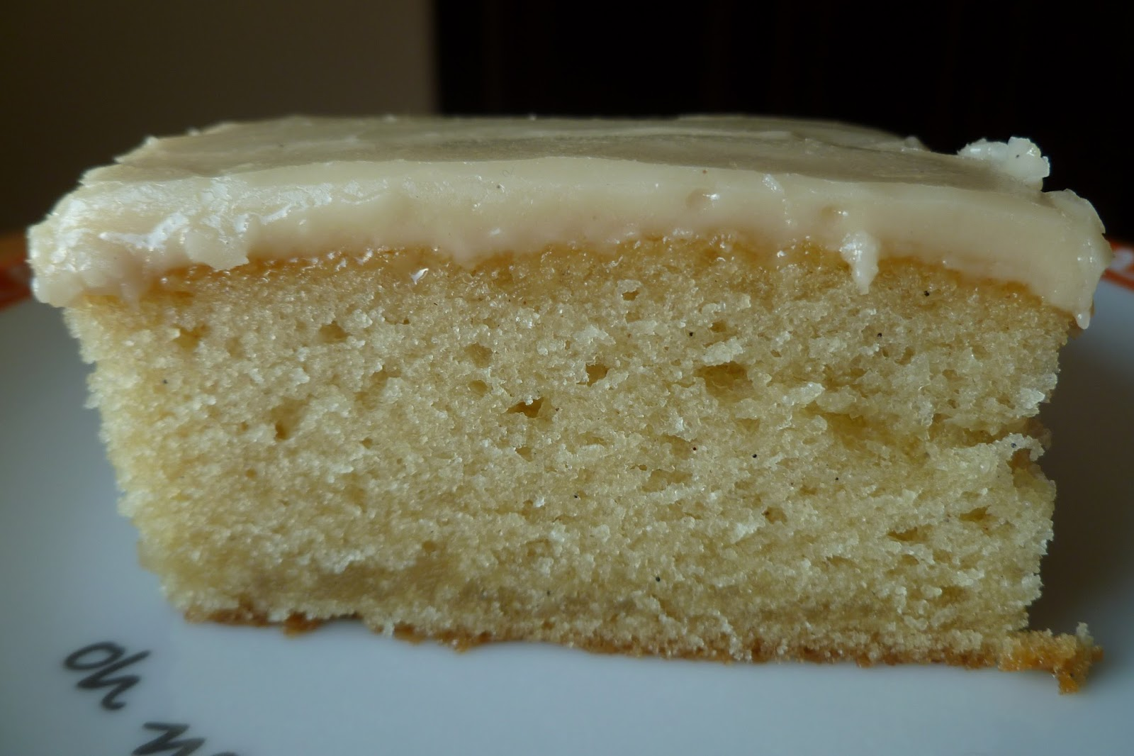 Vanilla Texas Sheet Cake Sour Cream