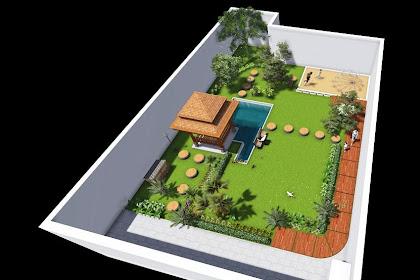 Jasa Desain  Taman Rumah Modern baik di depan atau belakang rumah