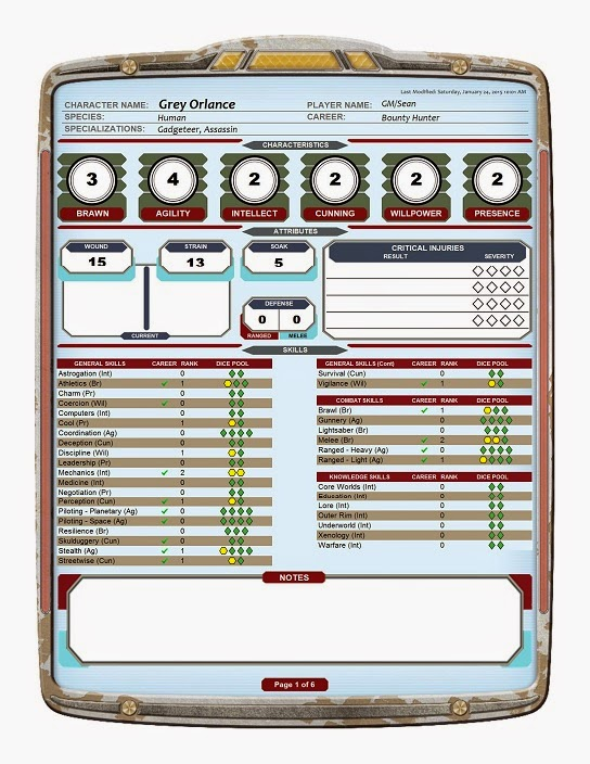 Force Character Design Pdf : Sean s gaming corner home brew character generator for