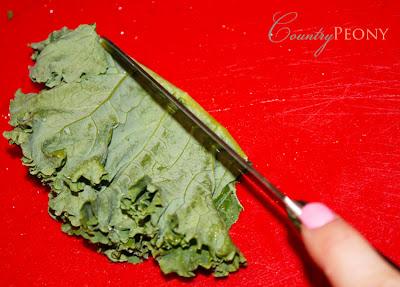 Deveining Kale
