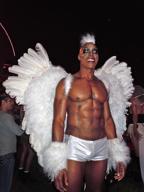 West Hollywood Halloween Carnaval angel