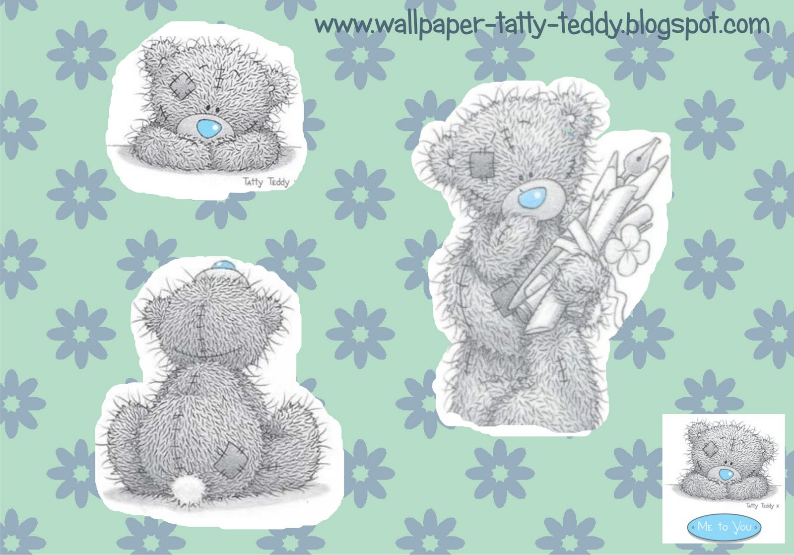 Wallpaper Tatty Teddy