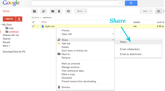 How to Share File from Google Drive
