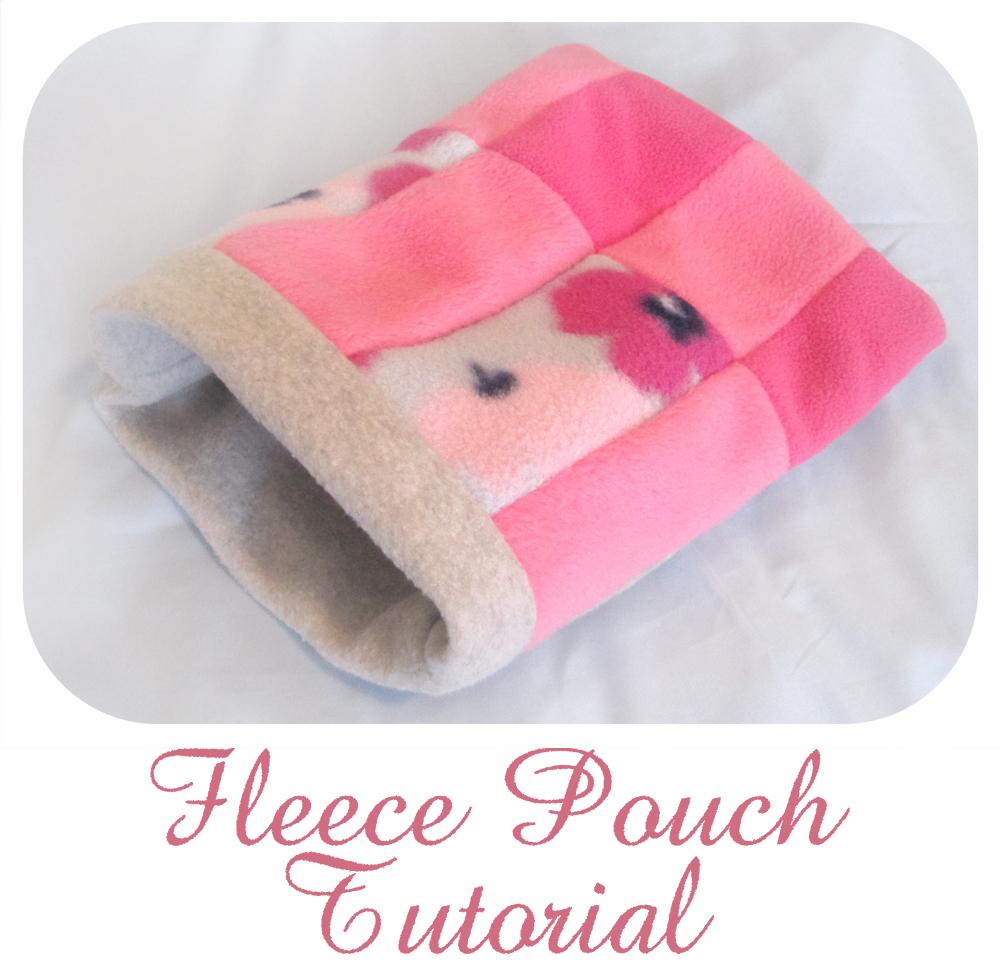 Fleece pouch tutorial for hedgehog hamster guinea pig for Guinea pig bed pattern