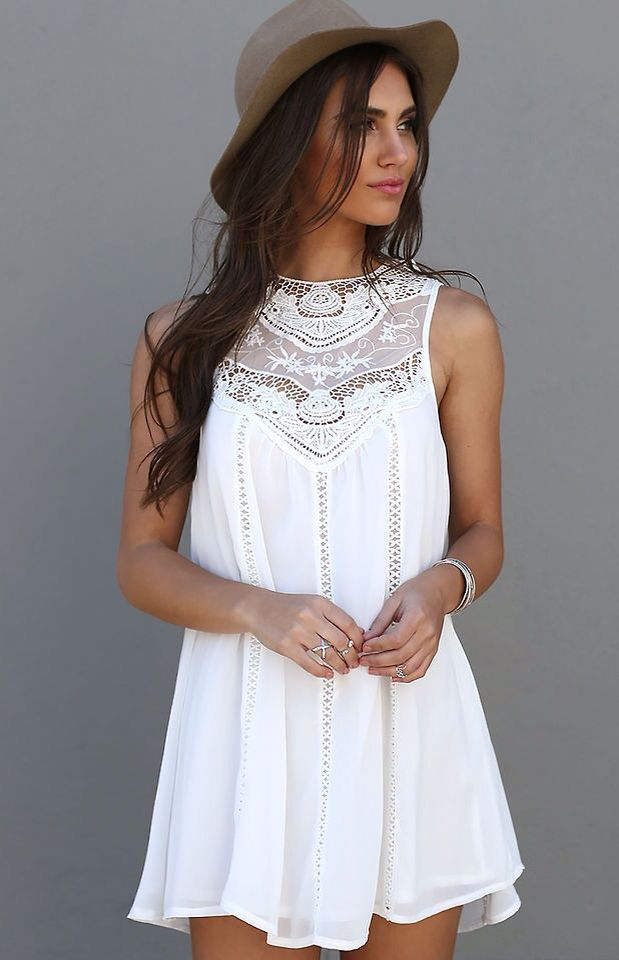 French lace white dress