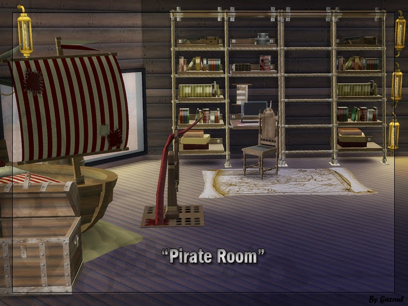 my sims 4 blog pirate bedroom set by gazoul