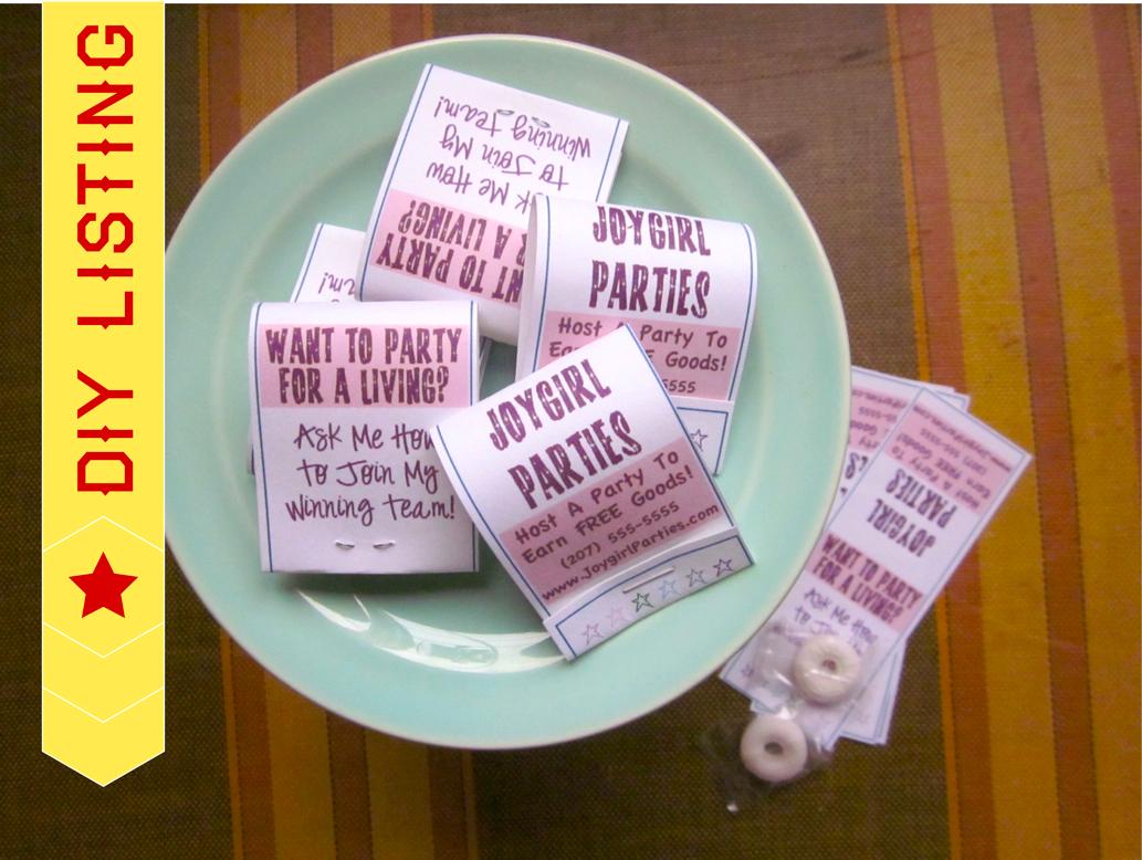 Constant Galore: Mint Matchbook Wedding Party Favors
