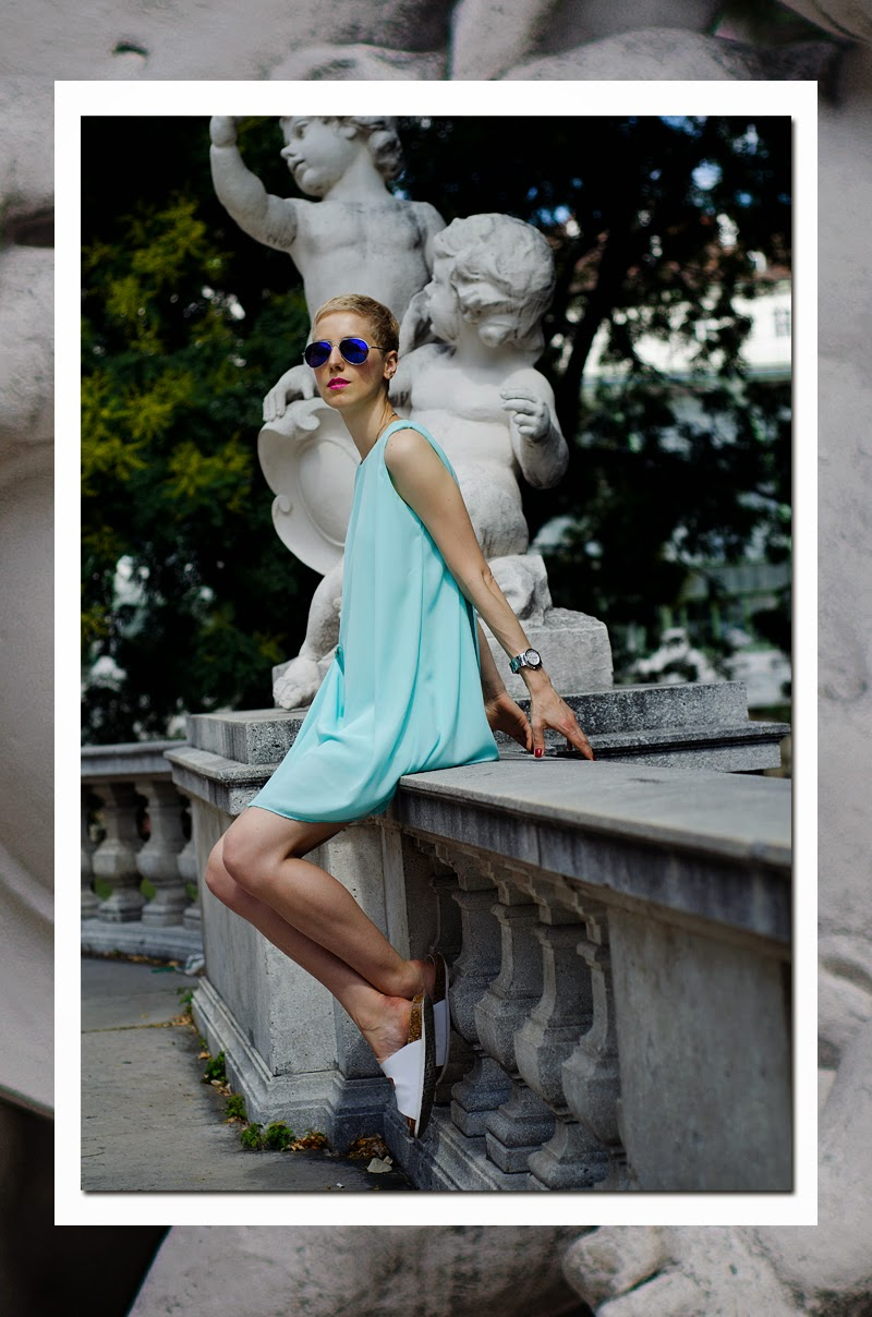 mint dress sheinside beeswonderland