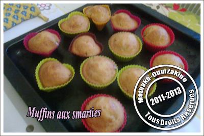 Muffins aux smarties oumzakino