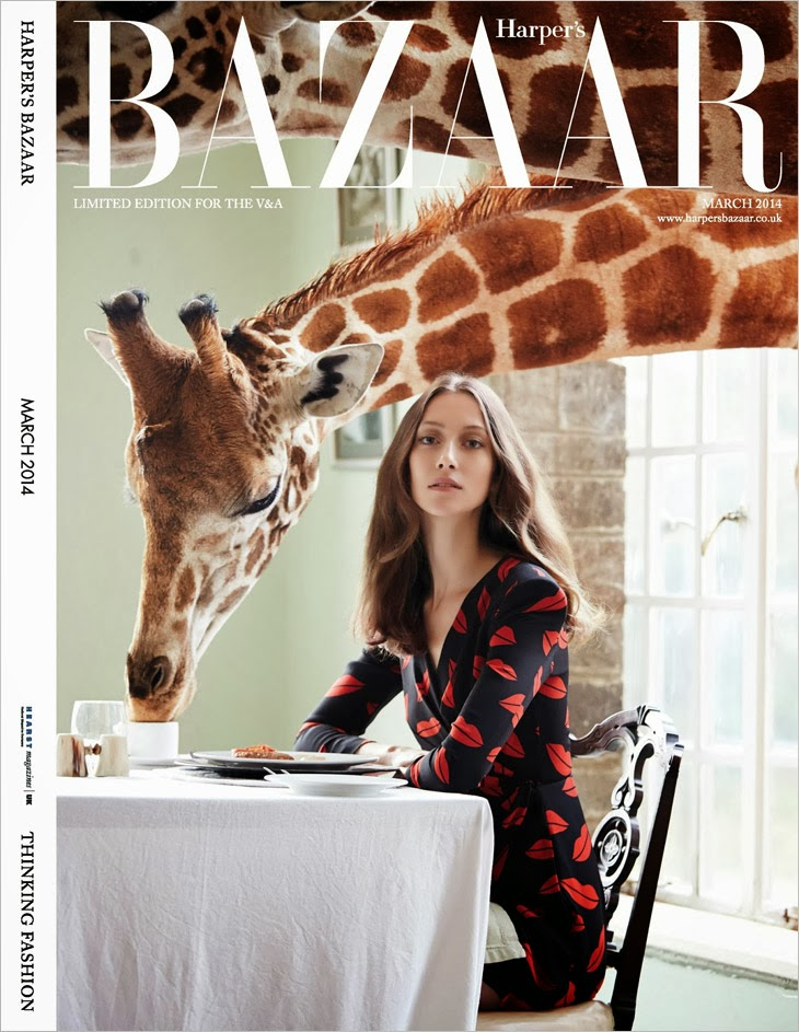 Alana Zimmer HQ Pictures Harper's Bazaar UK Magazine Photoshoot March 2014 By Liz Collins