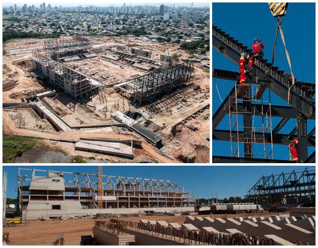 Situação das obras da Arena Pantanal em julho de 2012