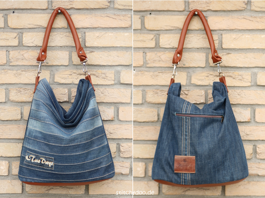 stitchydoo upcycling tasche chobe jeans recycling par. Black Bedroom Furniture Sets. Home Design Ideas