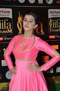 Actress Nikki Galrani Stills in Pink Long Dress at IIFA Utsavam Awards 2016  252812.jpg