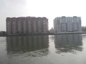 Modern skyscapers  on Marine Drive of Ernakulam