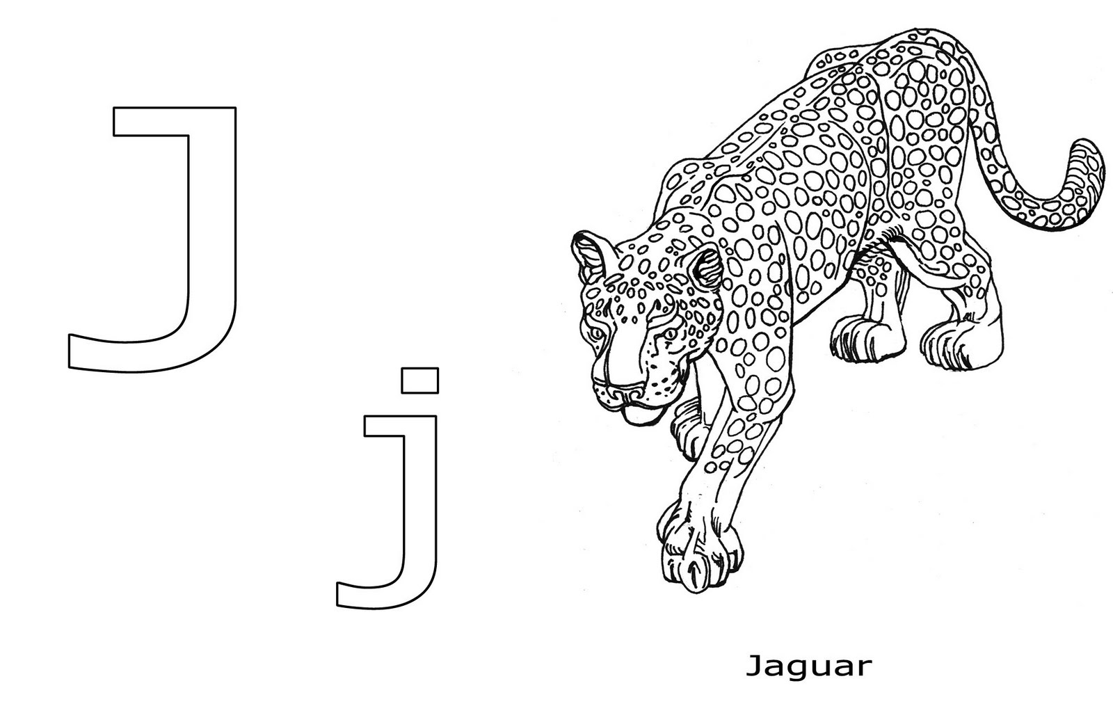 jaguar jumping outline