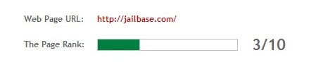pagerank of jailbase website