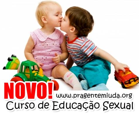 curso de educação sexual para trabalhar com crianças