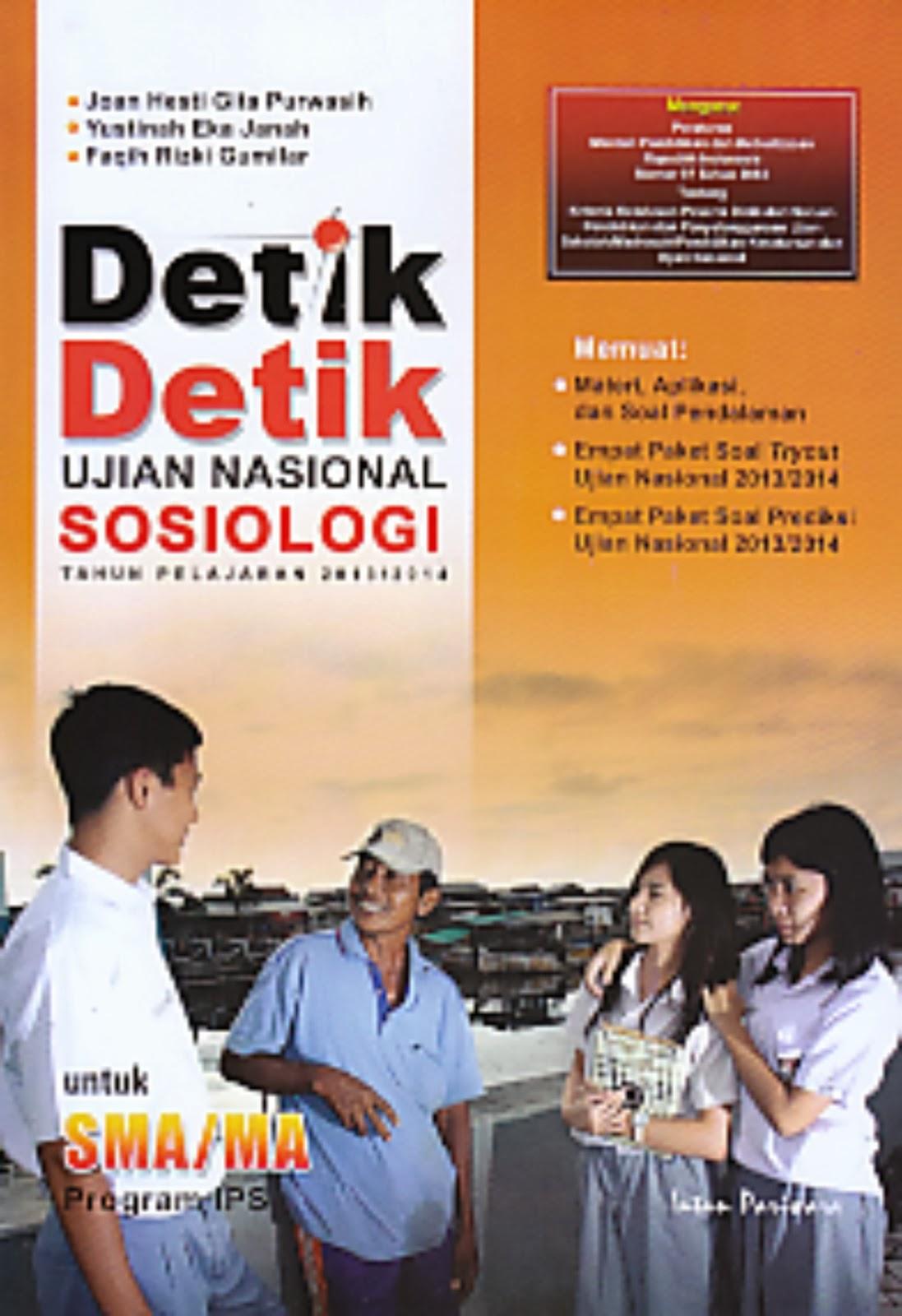 toko buku rahma: buku DETIK-DETIK UJIAN NASIONAL SOSIOLOGI Tahun 2013/2014(Untuk SMA/MA Program IPS) , pengarang widyabakti hesti kawedhar, penerbit intan pariwara