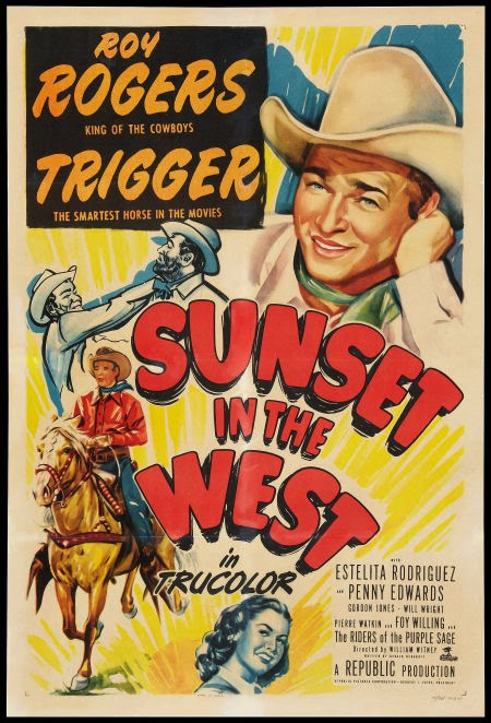Roy Rogers Sunset In The West Cover