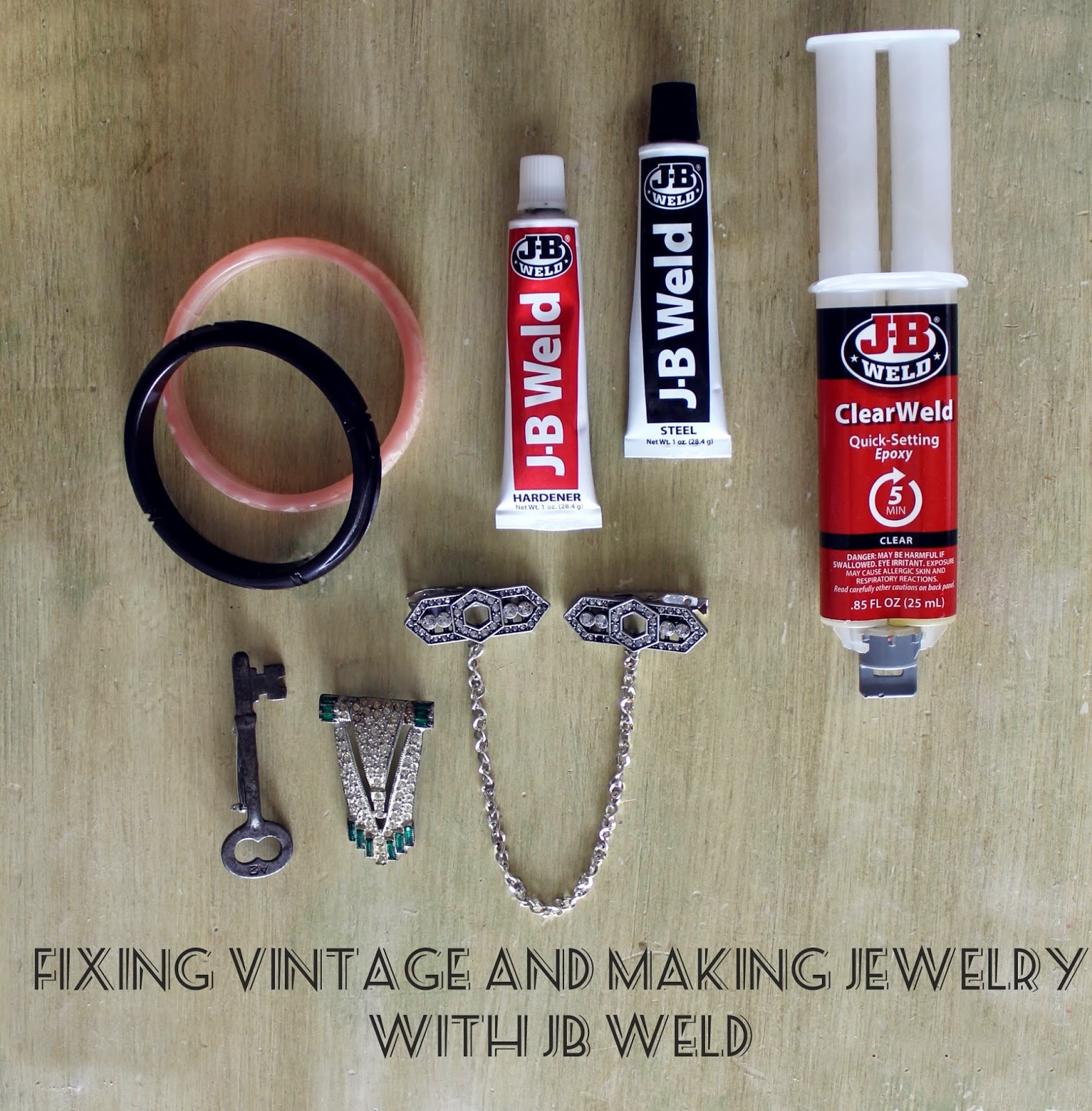 Fixing Vintage And Making Jewelry With Jb Weld Va Voom Vintage