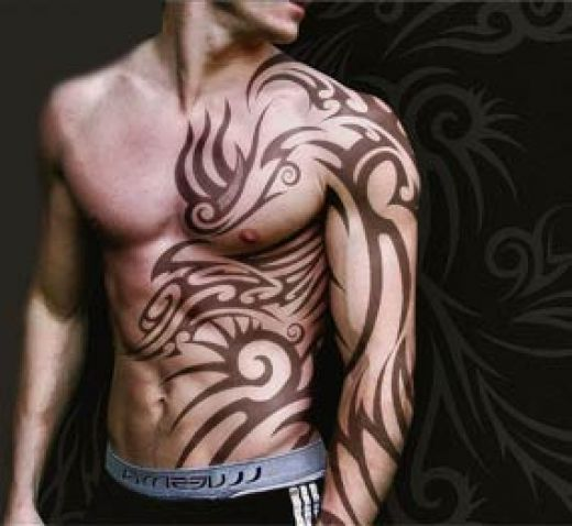 This Is The Useful Tattoo Boys Flowers Design Wallpaper: Amazing Tatoo For Men