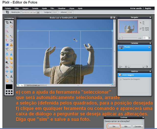 Cortar imagens para dimensões predefinidas no Pixrl - 2