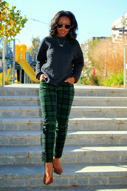 plaid and animal print ashley udoh