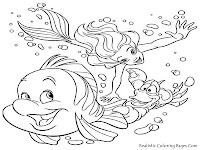 Sea Life Harmony Printable Kids Coloring Pages
