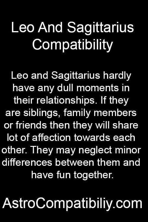 Sagittarius and leo compatibility friendship
