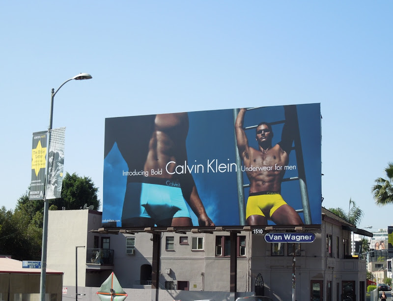 CK Bold men's underwear billboard