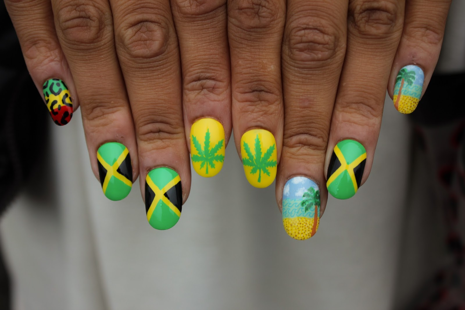 Jamaican Nail Art Design ~ The best ideas about jamaica nails on