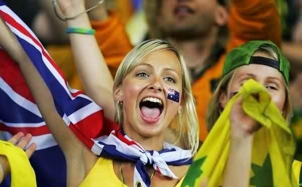 يا مرحبا بالمشجعات الأستراليات !