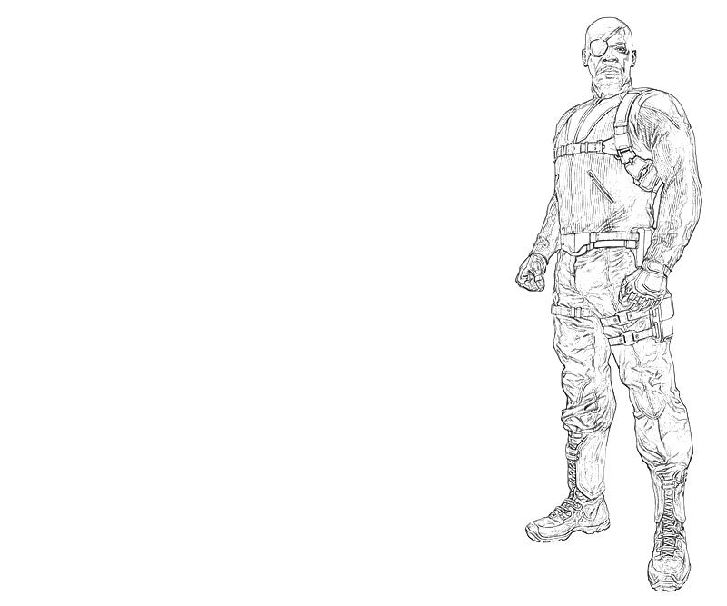Nicholas Fury Look Lowland Seed Fury Coloring Pages