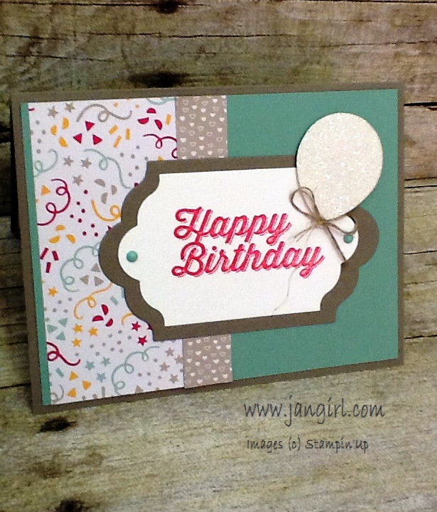 Jan Girl Stampin Up Perfect Pairings And Its My Party Birthday Card