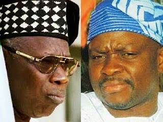 Olusegun Obasanjo and Ayodele Fayose