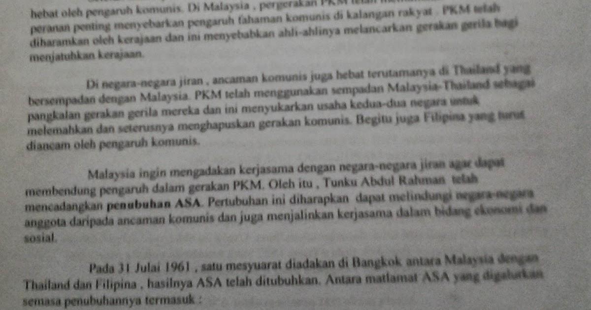 Jawapan Sejarah Kertas 3 SPM 2013 / Contoh Jawapan Lengkap Sejarah 3