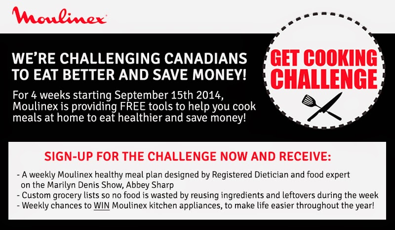 Moulinex Canada, Moulinex Challenge, Eat Healthy, Save Money, Get Cooking, Moulinex Appliances