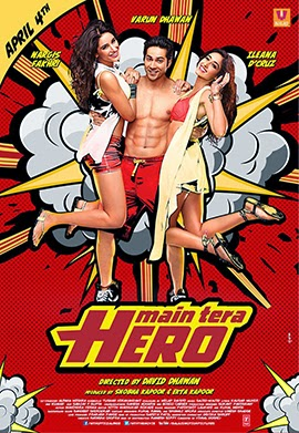 Watch Main Tera Hero (2014) Non Retail DVDRip Hindi Full Movie Watch Online For Free Download