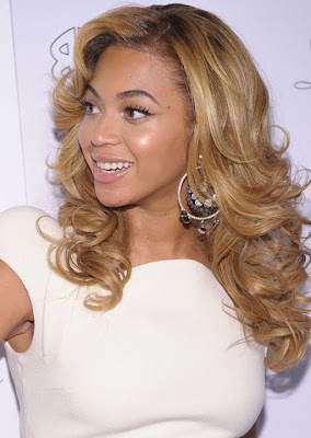 Beyonce Knowles Diamond Hoop Earrings