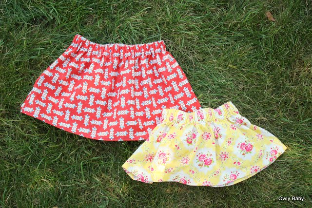 Owly Baby Free Pattern Simple Skirt