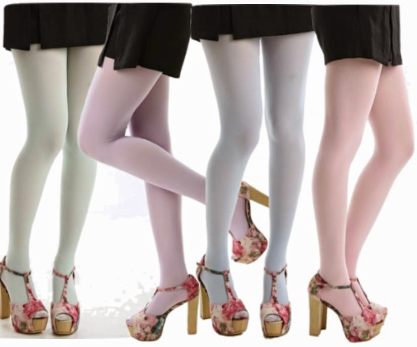 coloured hosiery