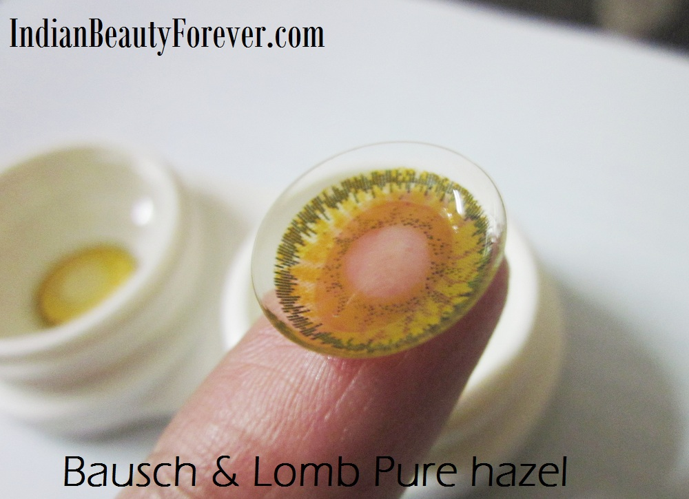 Bausch & Lomb Optima natural Look Pure Hazel Colored contact lenses