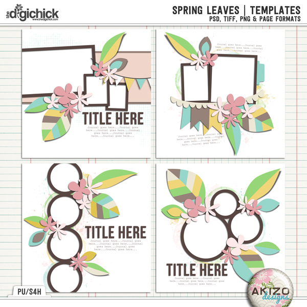 Spring Leaves by Akizo Designs