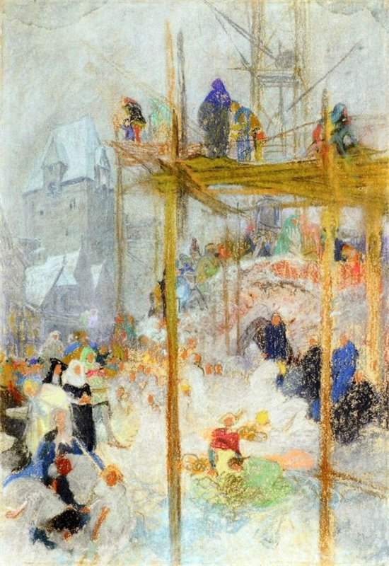 1916 the slavonic epic poem 2 study pastel on paper 52 x 35 5 cm jpg