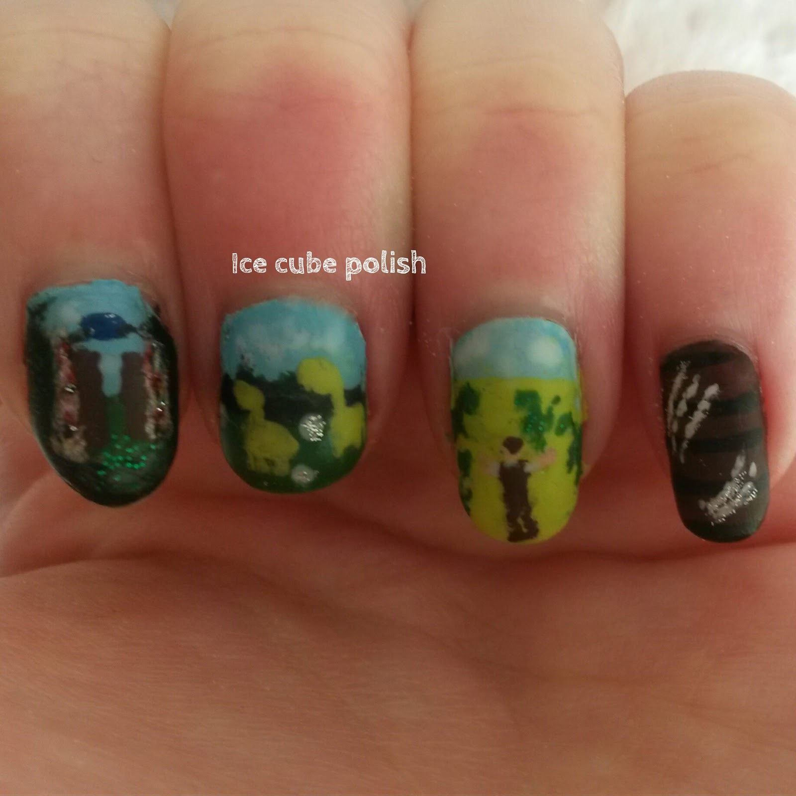 Jurassic World nail art
