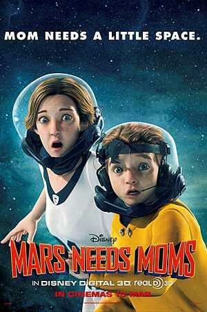 Mars Needs Moms (2011) Dual Audio [Hindi-English] BRRip 480p 300mb