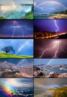 фото радуги, фото молнии